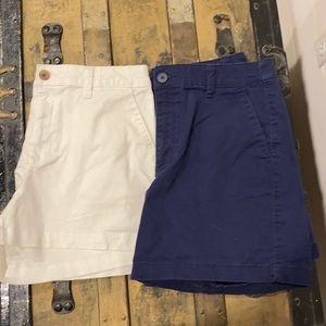 Bundle of 2 women's size 8 shorts- white/blue